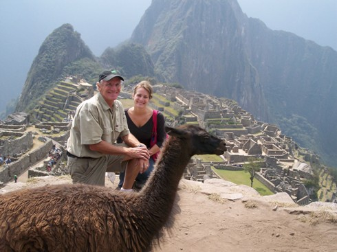 In Peru on Machu Picchu with my daughter Susanna